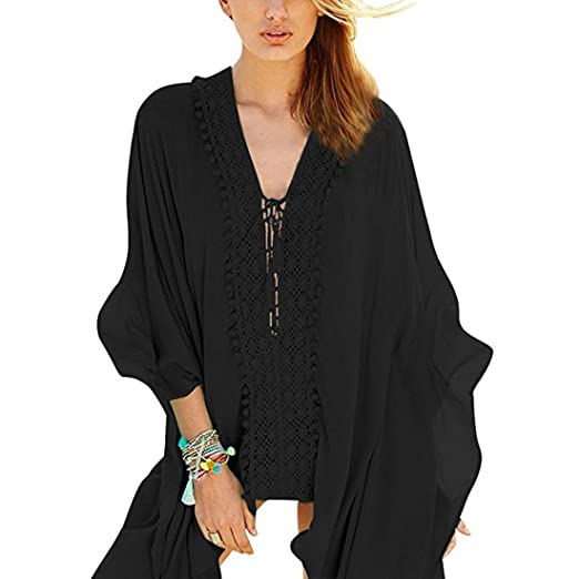 33e33d14c2 Women s Beach Wear Swimsuit Cover Up For Bikini Women s Swimsuit Cover Up  Swimwear Batwing Sleeve Solid
