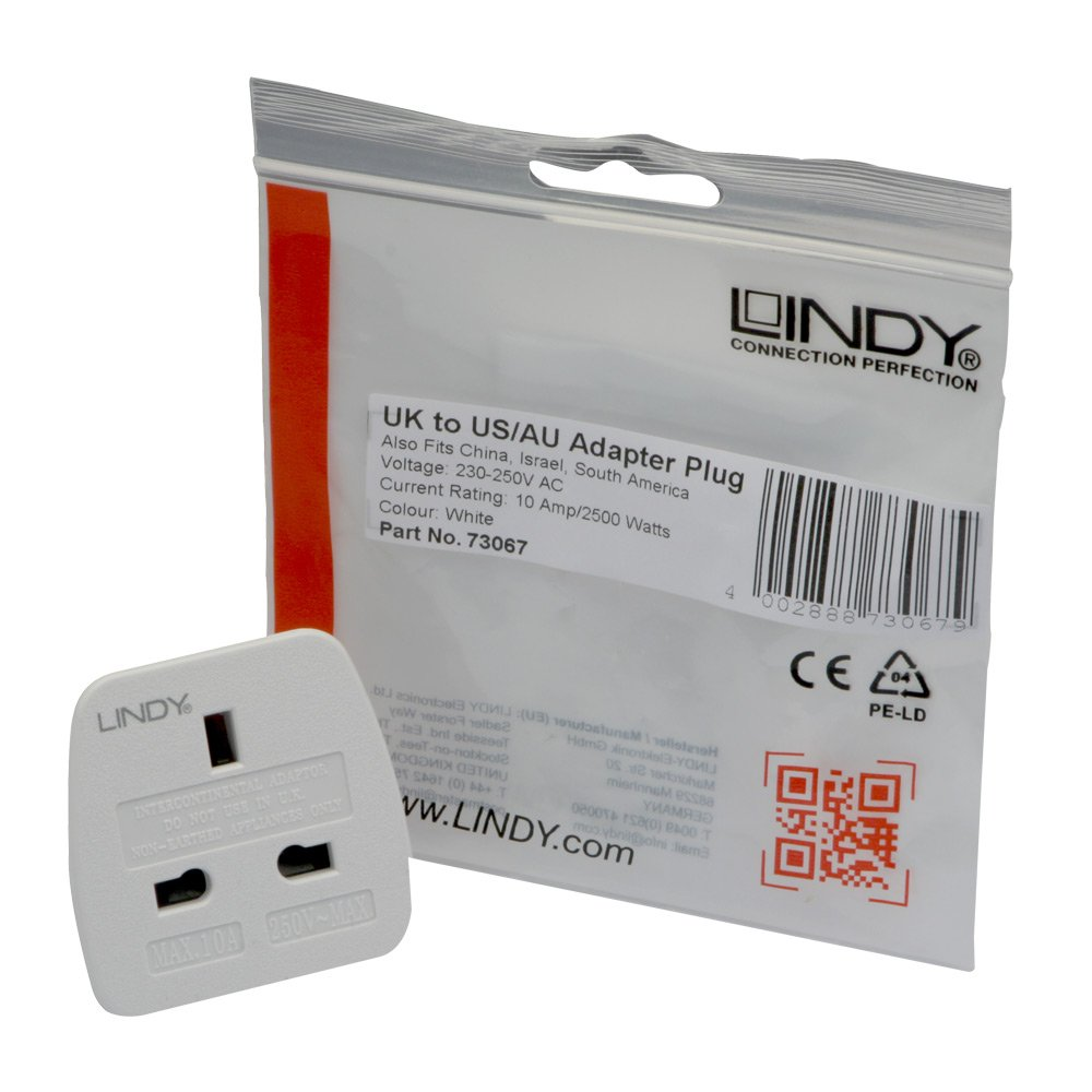 Lindy Uk To Us Australian Adapter Travel Plug Electronics Replace Electrical Outlet