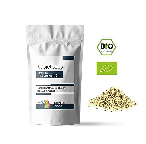 Basicfoods Bio Hanfsamen Geschält Premium Qualität Hanf Samen 99