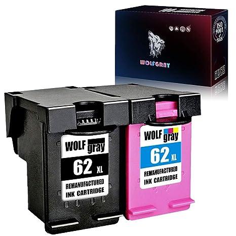 Wolfgray - Cartuchos de Tinta reciclados HP 62XL 62 de Alto ...