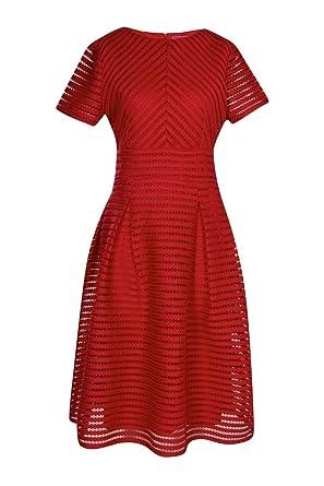 Boohoo Womens Boutique Zaira Full Skirted Prom Midi Dress In Berry Size 2