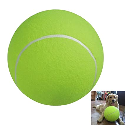 UEETEK 24CM Diámetro perro masticar juguete Pet Ball gigante ...