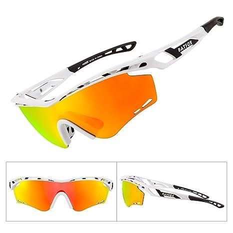 311285435c5 Batfox Mens Sports Sunglasses Polarized Cycling Glasses MTB Running Tac  Tactical Driving Fishing Golf Baseball For