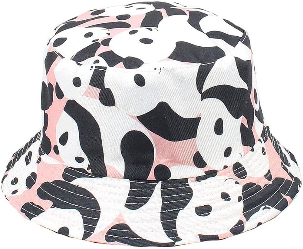 BIBITIME Animal Bucket Hat Panda Sunhat Reversible Foldable UV Protection Cap