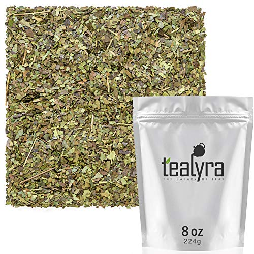 Tealyra - Pure Guayusa - Ecuador Herbal Loose Leaf Tea - Antioxidants Rich - Organically Grown - Caffeined - 224g (8-ounce)