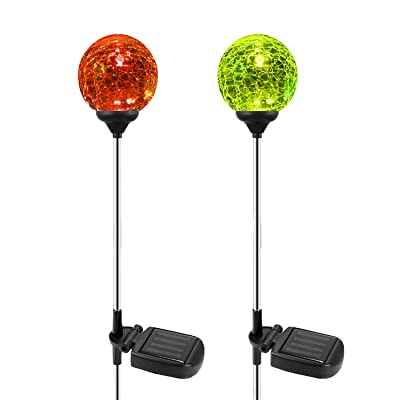 Solar Garden Path Lights Outdoor, 2-Pack of OxyLED Solar Globe Light Stakes, Color-Changing LED Garden Light Landscape Lighting, Auto On/Off Dusk to Dawn, Solar Powered Halloween Christmas Decor : Garden & Outdoor