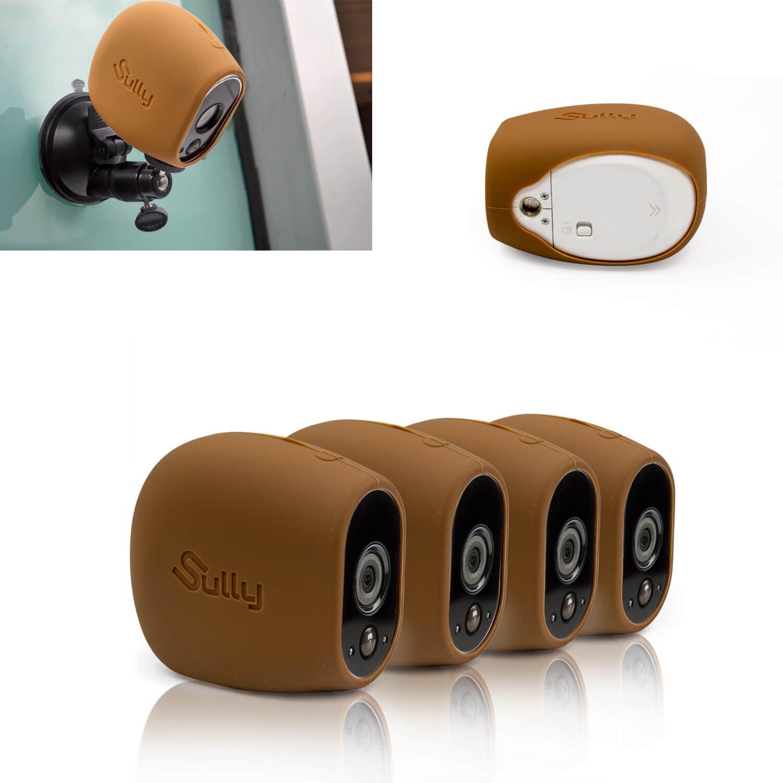 シリコンスキン (4個 ブラウン) Arlo HD Camera 保護ケース シリコンケース ブラック Arlo HDワイヤレスカメラ対応 Netgear Arlo HD対応 VMS3230対応 スマートセキュリティ アクセサリー By Sully B076GWRMGQ Set of 4 Brown Set of 4 Brown