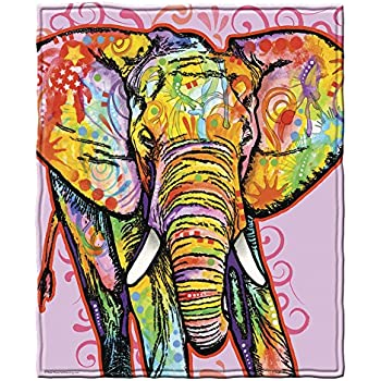 Dean Russo Elephant Fleece Throw Blanket
