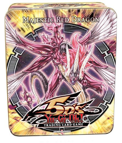 - YuGiOh 5Ds 2010 Collection Tin 1st Wave Majestic Red Dragon E. Hero Stratos, Battle Fader, VanDalgyon Cyber Dinosaur