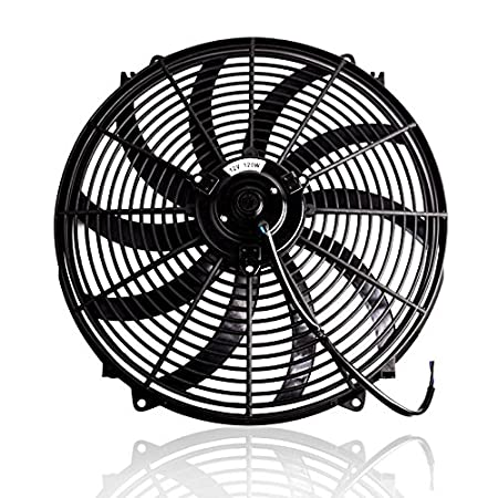 Amazon Com 16 High Performance Black Electric Radiator Cooling Fan