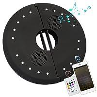 Lampes pour parasol Bluetooth Speaker Audio, 20 RGB LEDs 4 Mode De Lighting USB Rechargeable Lampe Sans Fil Parapluie Parasol Lumière Lampe Tente de Camping Lampe Patio Lampe Extérieure