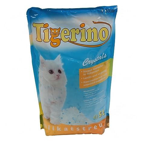 Tigerino Crystals - Arena de silicato para gatos, 25L