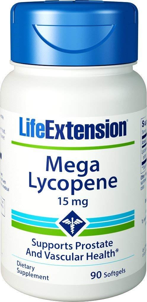 Life Extension Mega Lycopene, 15 Milligram, 90 Softgels (Pack of 2)