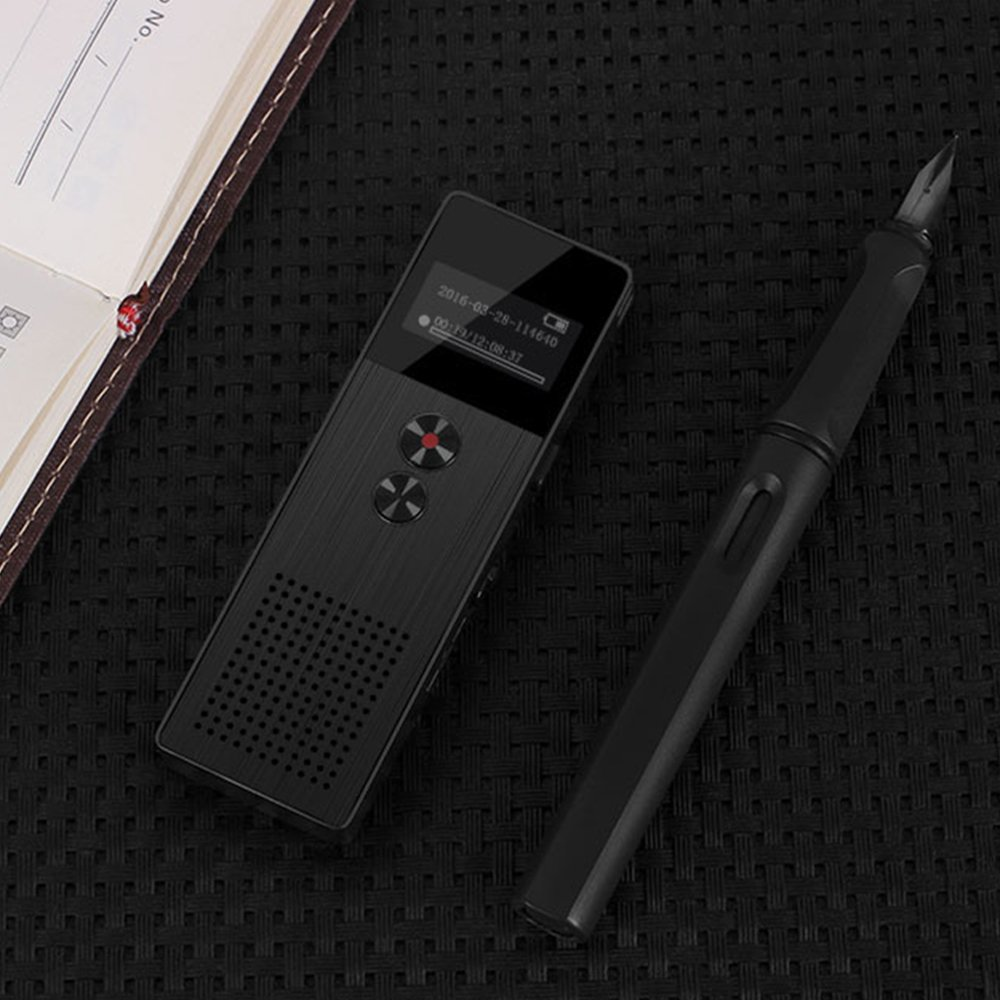 Original BENJIE C6 8GB Professional Audio Recorder Business Portable Digital Voice Recorder Dictaphone With USB Support TF Card (Black)