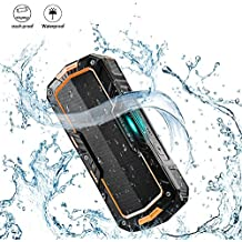 BlitzWolf Portable Wireless Speakers, 2X5W 2000mAh IPX5 Water-Resistant Hands Free Wireless MP3 Music Player for Outdoor Activity Yellow