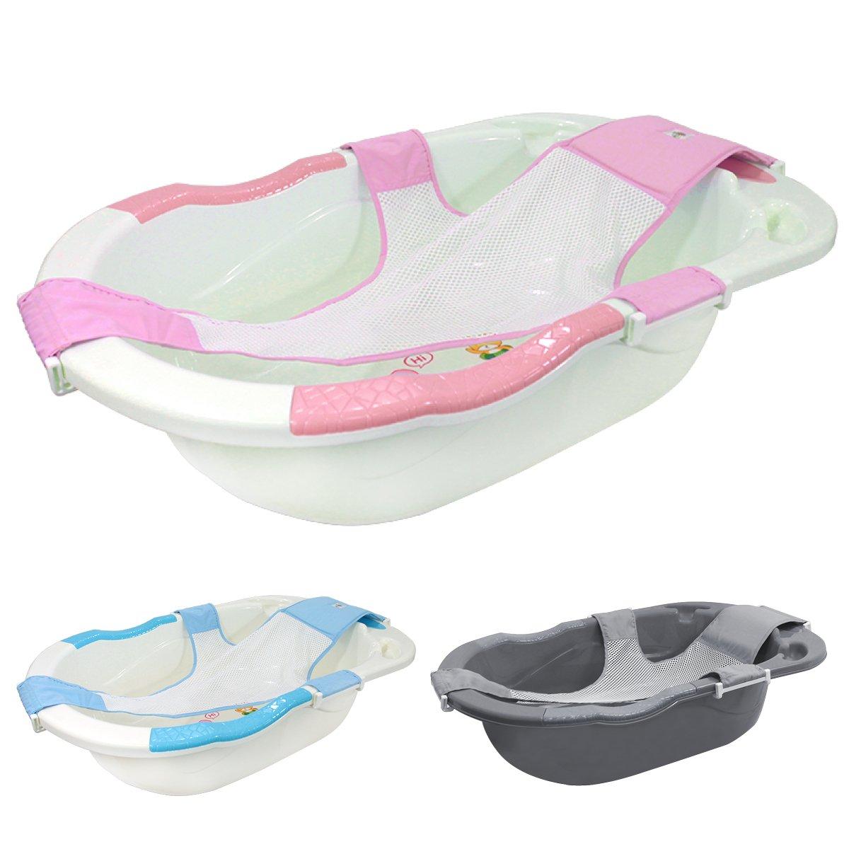 Monsieur Bébé ® Baignoire bébé évolutive avec hamac de bain + grip + vidange - Trois coloris - Norme XP 54-044 product image