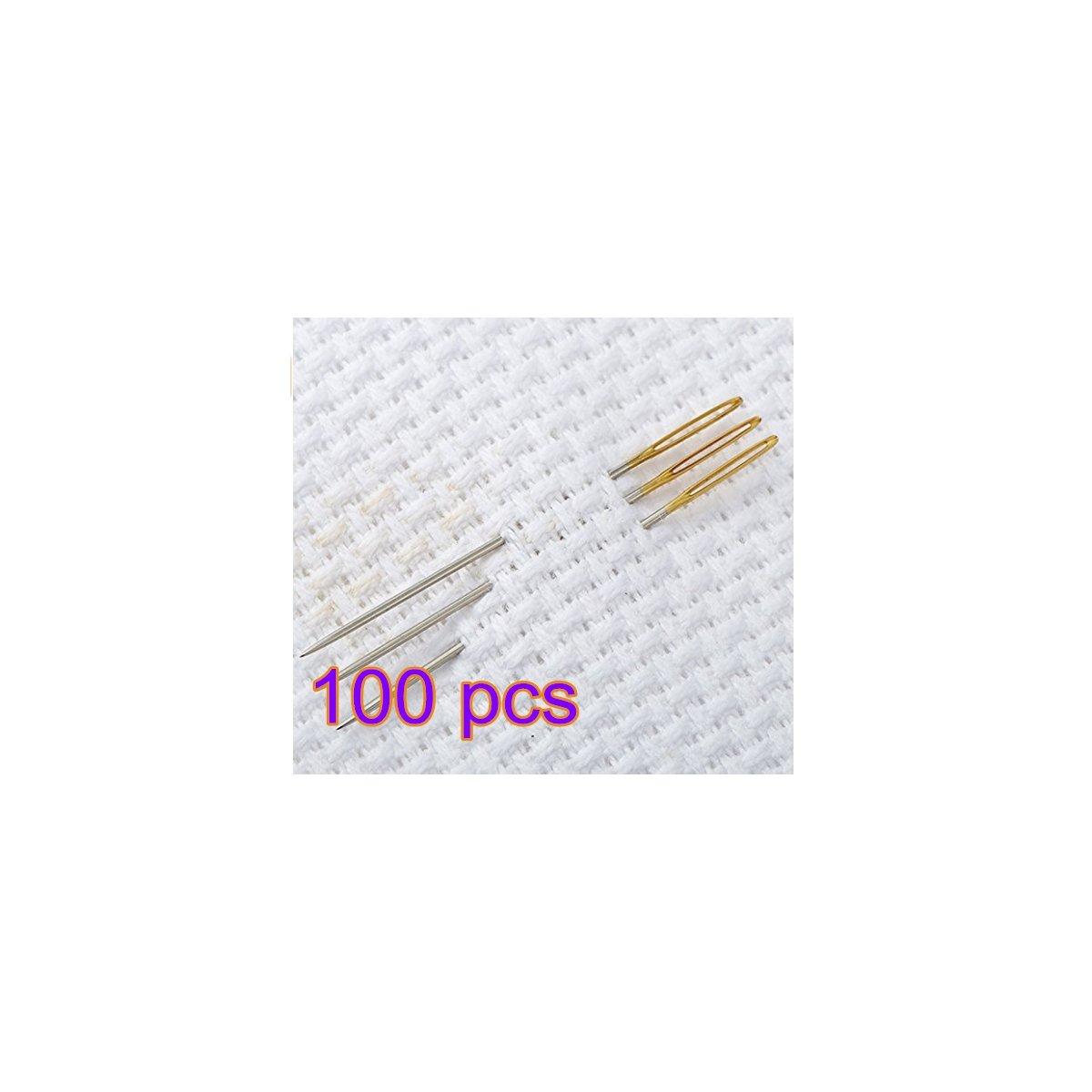 2700Lon acciaio aghi attrezzo manuale per punto croce ricamo accessori 100pcs