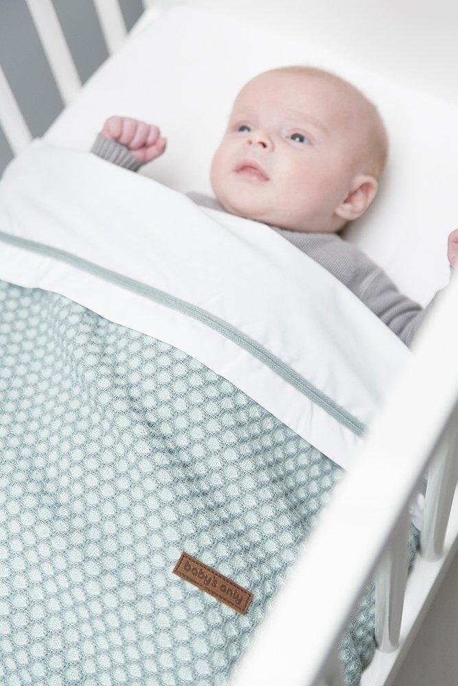 Baby's Only 251083 Babydecke Sun  mit Teddyfutter mint  Sun  stonegreen Gr. 70x95 cm 047792