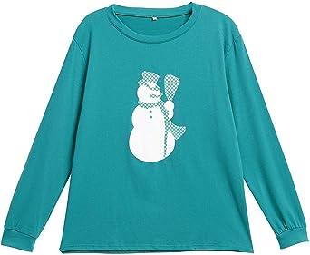 Pijamas Mujer Caliente Pijama Muñeco De Nieve Manga Larga ...