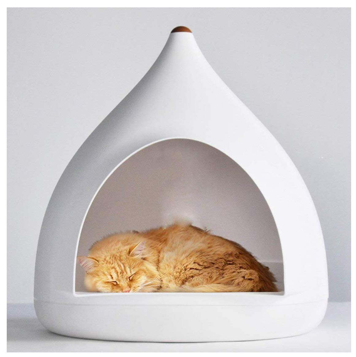 Cat House Cave Bed, Water Drop Cat House, Windproof Warm Detachable Shell Nest, Four Seasons Universal Cat House Kennel