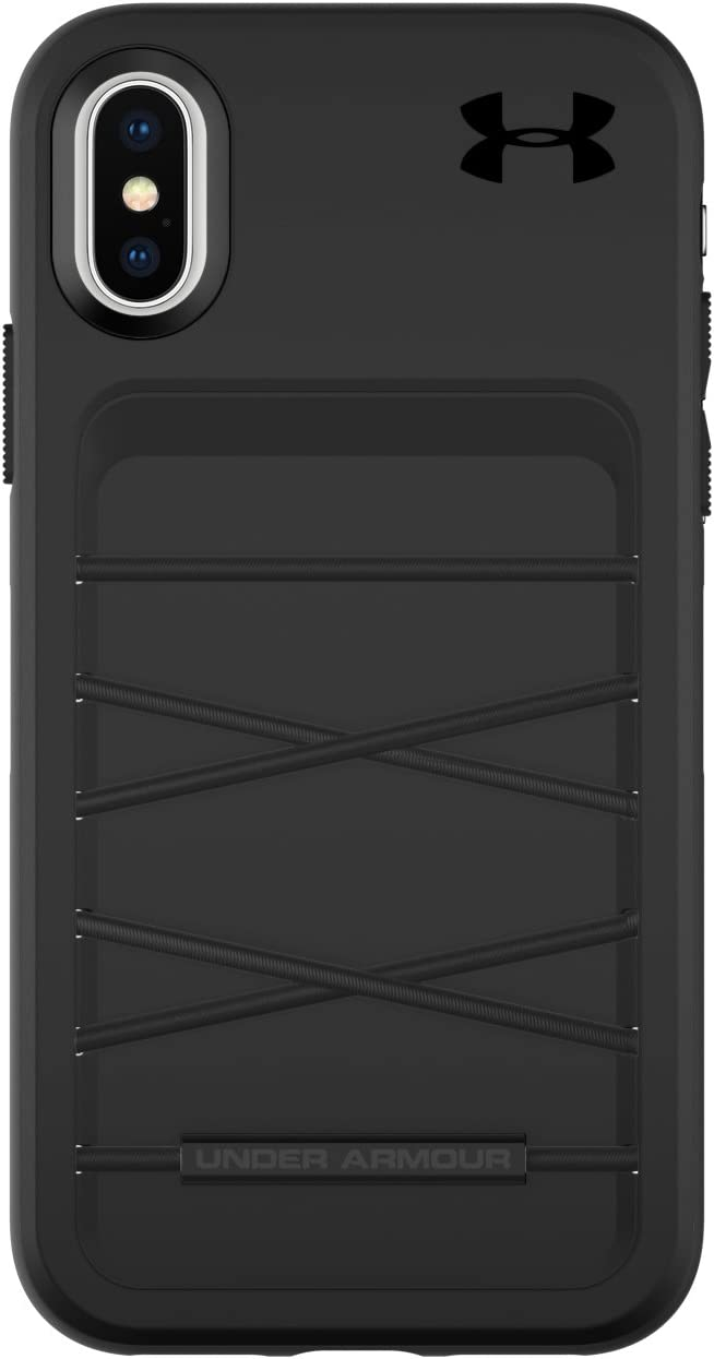Under Armour Phone Case   for Apple iPhone X and 2018 iPhone Xs   Under Armour UA Protect Arsenal Case with Rugged Design, Drop Protection, and Extra Storage - Black/Black