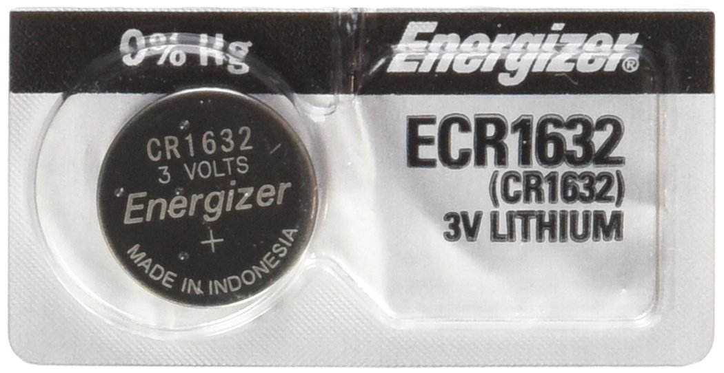 2PC Energizer ECR1632 CR1632 Lithium Coin Batteries 3V Energizer Batteries