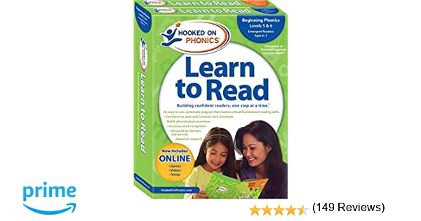 Hooked on Phonics Learn to Read - Levels 5&6 Complete: Beginning ...