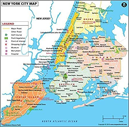 Map Of New York By Neighborhood.Amazon Com New York City Map Laminated 36 W X 35 57 H