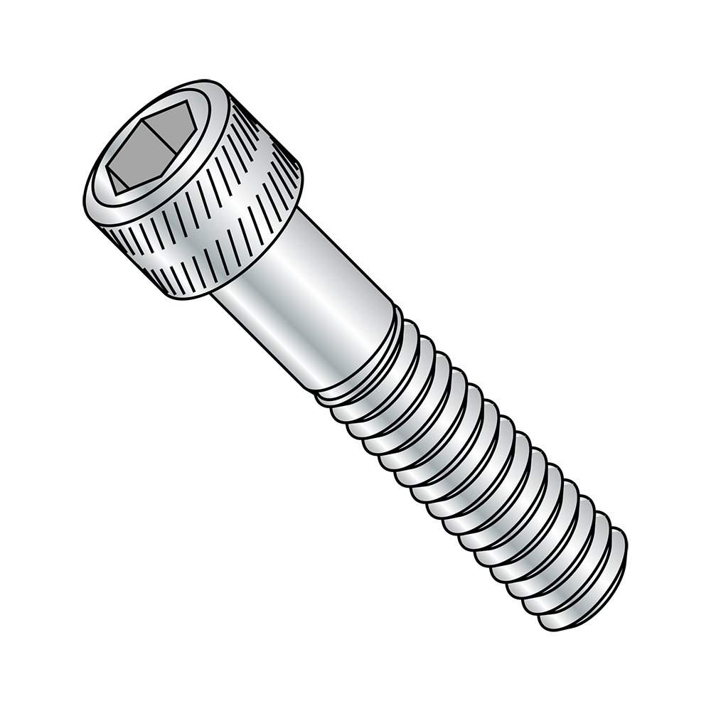 US Made Pack of 100 2-1//4 Length Partially Threaded Zinc Plated Alloy Steel Socket Head Cap Screw Hex Socket Drive 1//4-20 Thread Size