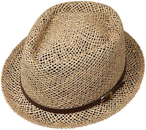 Sun hat Men//Women Lipodo Coyuca Vented Pork Pie Straw Hat Summer hat with Leather Band Made in Italy Hat Made of Straw