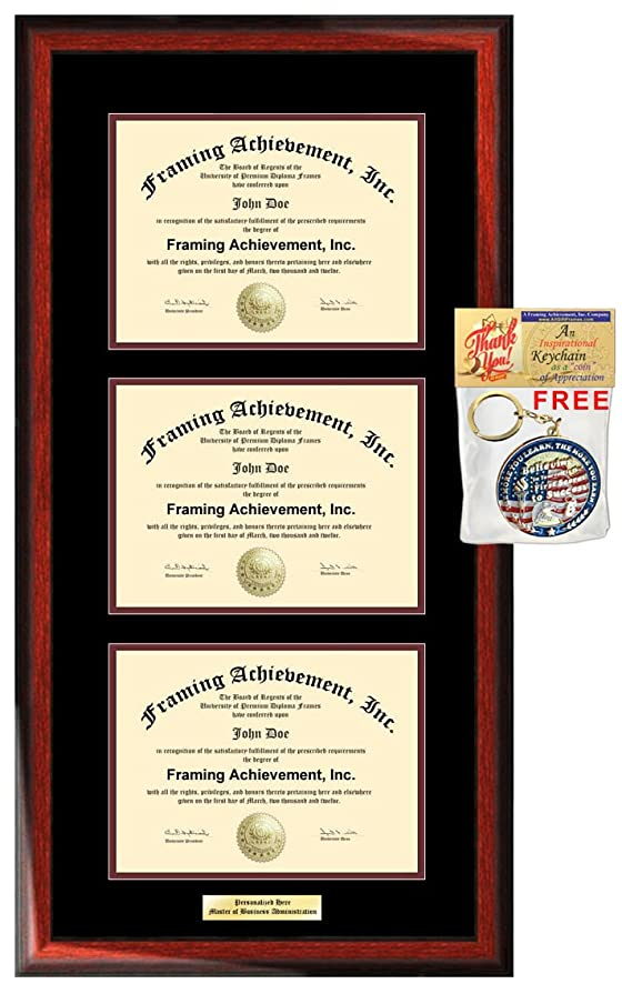Amazon.com: Personalized Three License Frame Certificate Double ...