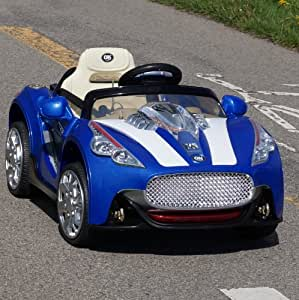 NEW MASERATI STYLE Battery Powered - 12V Battery GT Roadster ,2 Motors, Opening doors , Remote control,MP3 player input.