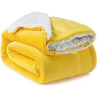 Bedsure Manta Cama 90 Invierno - Manta Sofa Grande Polar Reversible de Franela y Sherpa, Manta Sofa Gruesa 150x200 cm de…