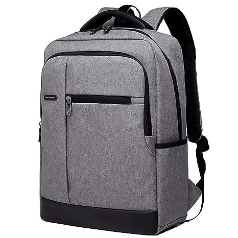 Negocio portátil mochila con puerto de carga USB auricular jack resistente al agua bolsa de 15