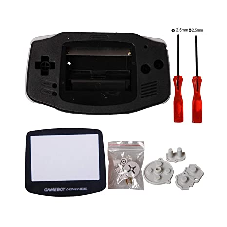 eJiasu GBA Replacement Shell, Full Parts GBA Case Replacement Housing Shell Repair Part for Nintendo Gameboy Advance GBA (1PC GBA Shell Black with ...