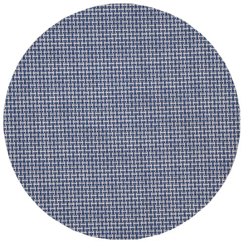 Blue/White Wipeable Charger-Center Round Placemat