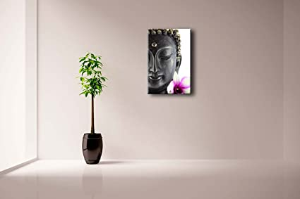 Buddha and Lotus Flower Art Painting