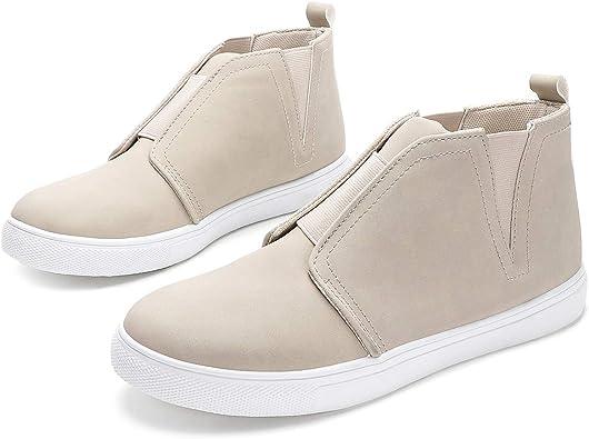 High Top Slip on Sneakers Ankle Booties