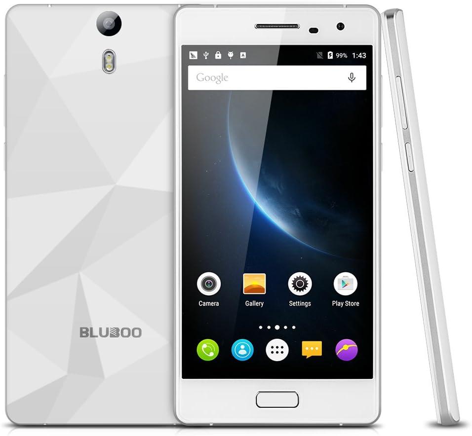 BLUBOO Xtouch LTE 4G - Smartphone Libre Android 5.1 (5.0 IPS HD, Dual Sim, 32Gb ROM, 3Gb Ram, Camara 13M 8M, Multi-Idioma, WiFi GPS Bluetooth gsm), Blanco: Amazon.es: Electrónica