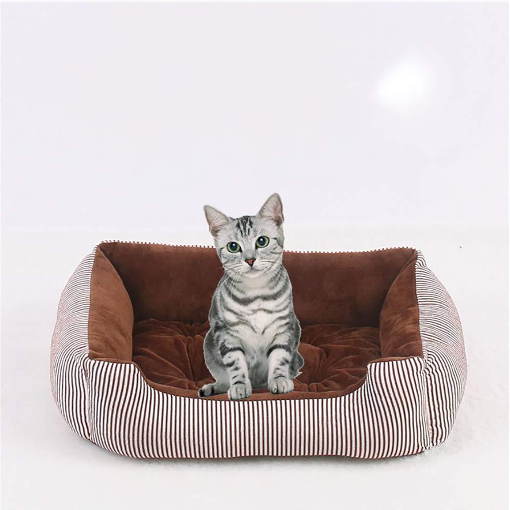 Lifemaison Cuccia Letto per Animali Domestici Canile Estraibile e Lavabile Letto per Cane Gatto 1 PCS 68cmx55cmx16cm, Verde