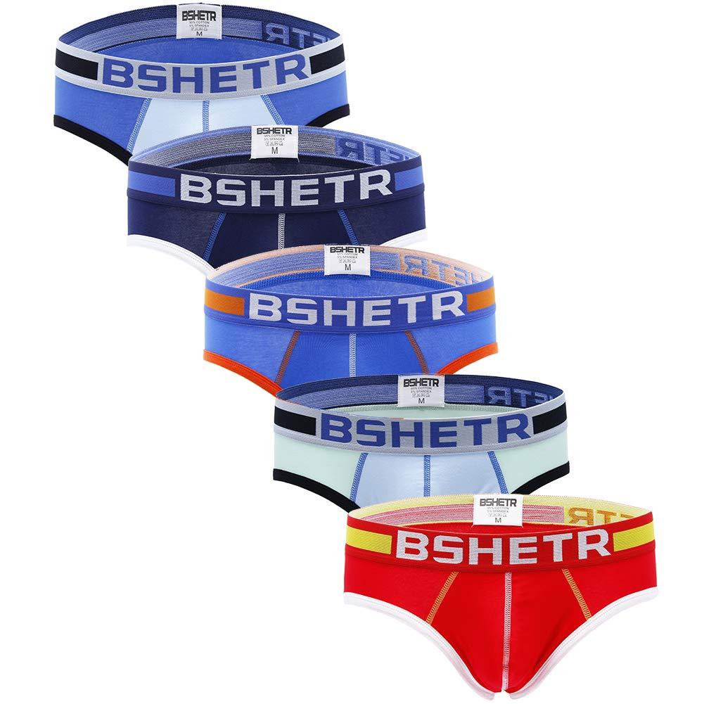 Men's Underwear Briefs 5-Pack Cotton Low Rise Multi Color Soft Underpant