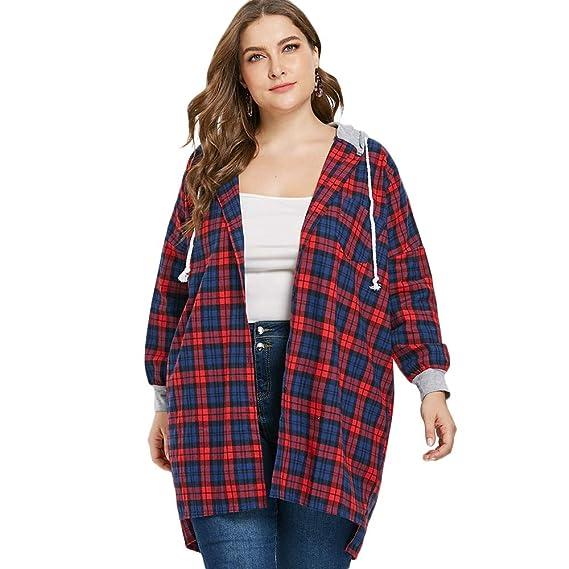 Rosegal Sweat-Shirt à Capuche Veste de Sport Zip Hoodie Femmes Fille Casual  Veste Sweats Cardigan Longue Manteau Décontracté Manche Longue Chemise  (Taille ... 21450a2abf3