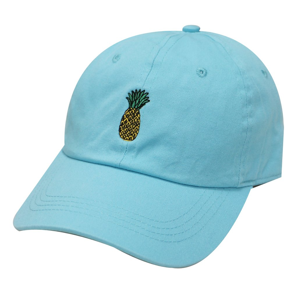 City Hunter C104 Pineapple Cotton Baseball Cap Multi Colors (Aqua) at  Amazon Men s Clothing store  fc7444ec99ea