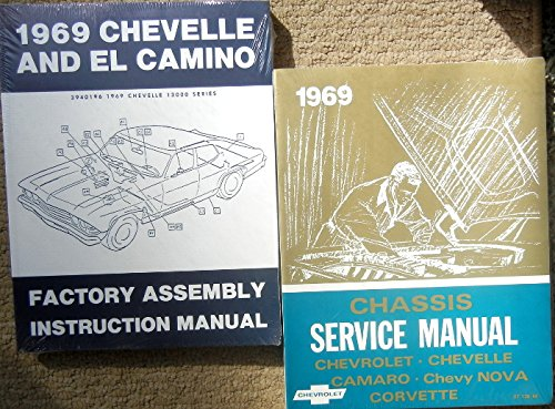(2pc SET OF THE 1969 CHEVROLET CHEVELLE FACTORY REPAIR SHOP & SERVICE MANUAL And ASSEMBLY MANUAL)
