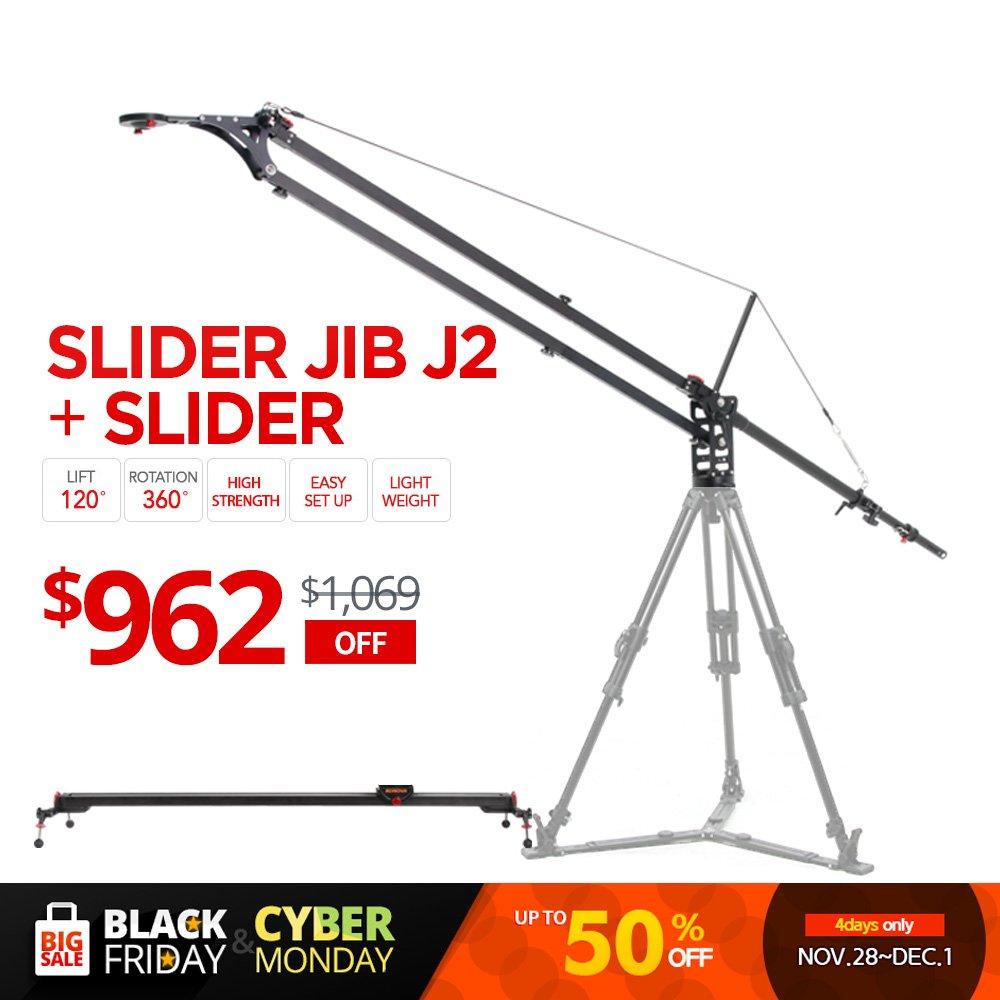KonovaスライダーJib j2 with k5 120 cm ( 47.2インチ)スライダー( Slider含む、Jib Crane )   B00Q6CPE1G