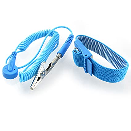 New Blue Anti Static Discharge Wrist Band