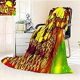 YOYI-HOME Super Soft Duplex Printed Blanket Lantern Festival Dragon Dance Warm Microfiber All Season Oversized Travel Throw Cover Blanket/69 W by 47'' H
