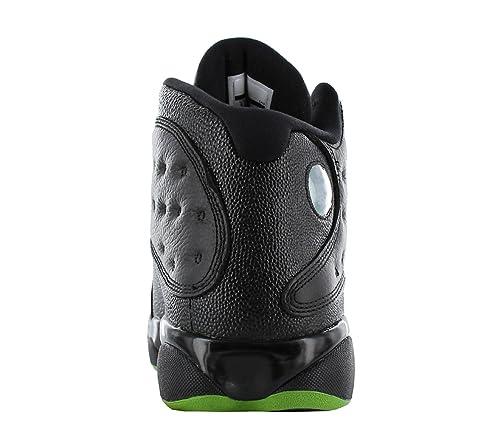 Nike Chaussures Hommes Jordan 13 Retro Altitude en Cuir Noir 414571