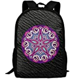 Trippy Acid Double Shoulder Backpacks For Adults Traveling Bags Full Print Fashion