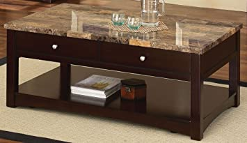 Nice Acme 80018 Jas Faux Marble Lift Top Coffee Table, Espresso Finish